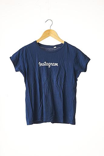 T-shirt manches courtes bleu SANS MARQUE pour femme