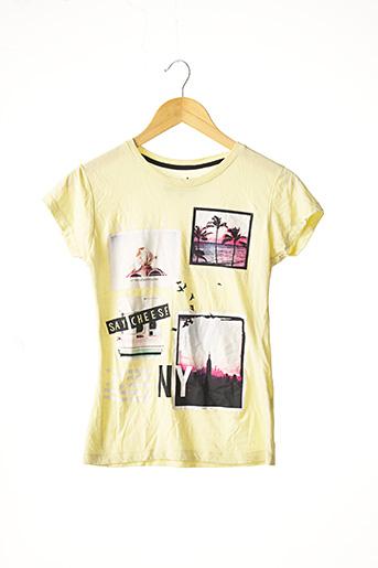 T-shirt manches courtes jaune ATMOSPHERE pour femme