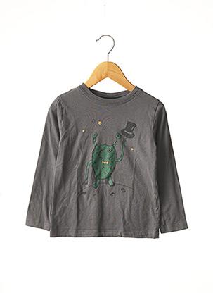 T-shirt manches courtes gris MONOPRIX pour garçon