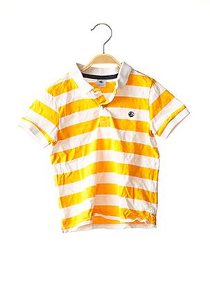 Polo manches courtes orange PETIT BATEAU pour garçon