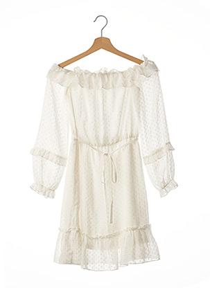 Robe courte blanc LOAVIES pour femme