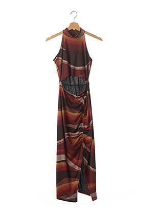 Robe longue marron PRETTY LITTLE THING pour femme