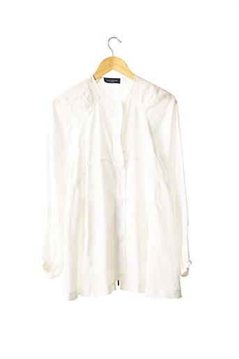Tunique manches longues blanc PIAZZA SEMPIONE pour femme