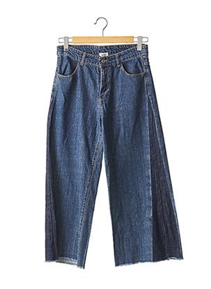 Jeans coupe large bleu YOU pour femme