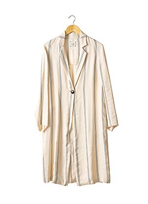 Manteau long beige ALYSI pour femme