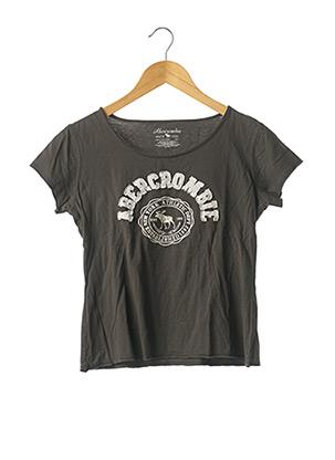 T-shirt manches courtes gris ABERCROMBIE & FITCH pour femme