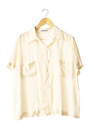 Chemisier manches courtes beige EMPORIO ARMANI pour femme