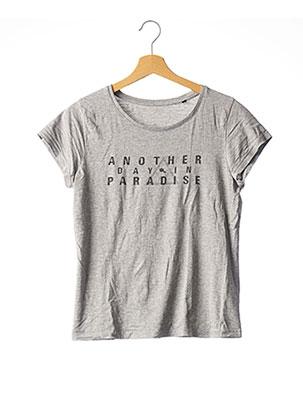 T-shirt manches courtes gris SOL'S pour femme