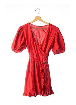 Robe courte rouge ZARA pour femme