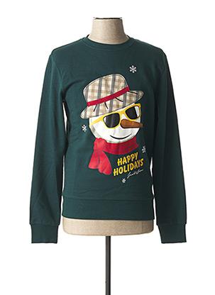 Sweat-shirt vert JACK & JONES pour homme