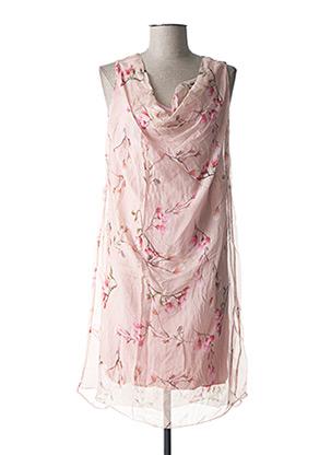 Robe mi-longue rose ROSEMARIE B pour femme