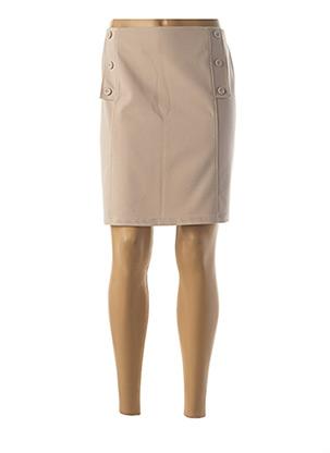 Jupe courte beige HALOGENE pour femme