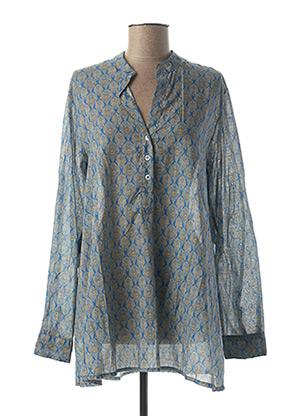 Tunique manches longues bleu CHANTAL B. pour femme