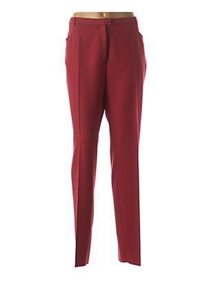 Pantalon chic rouge CHRISTIAN MARRY pour femme