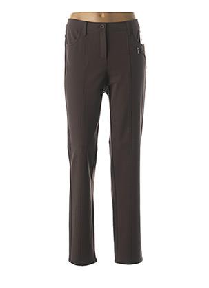 Pantalon casual marron FRANK WALDER pour femme