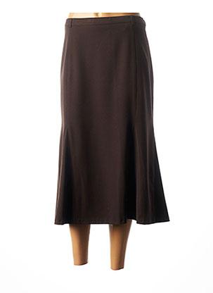 Jupe mi-longue marron CHRISTIAN MARRY pour femme