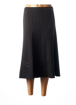 Jupe mi-longue noir GUY DUBOUIS pour femme