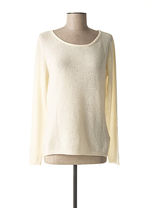Pull col rond beige A.POIL pour femme