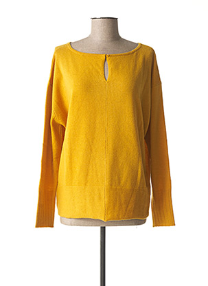 Pull col rond jaune A.POIL pour femme