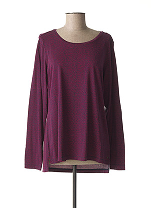 T-shirt manches longues violet SANDWICH pour femme