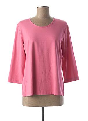 T-shirt manches longues rose EUGEN KLEIN pour femme