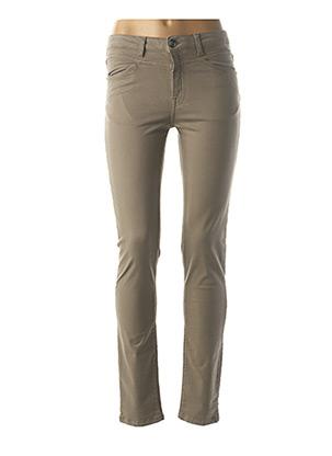 Pantalon casual gris MENSI COLLEZIONE pour femme