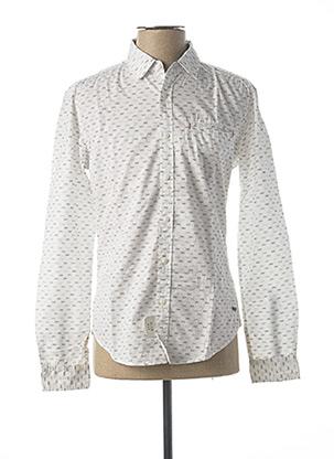 Chemise manches longues blanc EDC pour homme