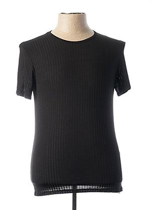 T-shirt manches courtes noir BRUNO BANANI pour homme