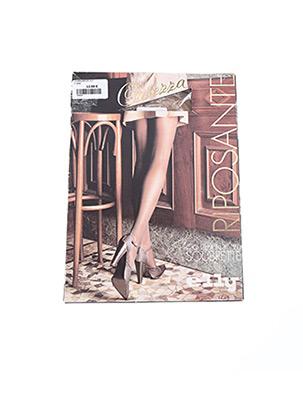 Collants beige ELLY ITALIA pour femme