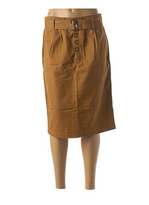 Jupe mi-longue marron MINIMUM pour femme