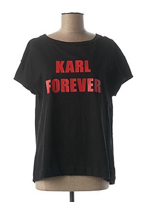 T-shirt manches courtes noir OTTANTOTTO pour femme