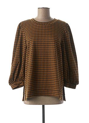 Sweat-shirt marron MINIMUM pour femme
