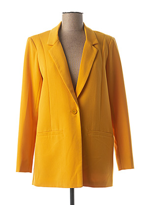 Veste chic / Blazer jaune MINIMUM pour femme