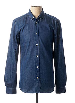 Chemise manches longues bleu MINIMUM pour homme