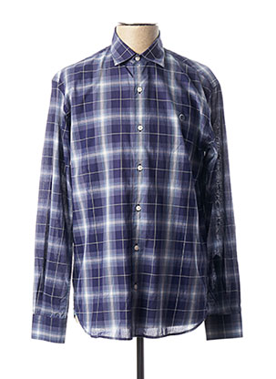 Chemise manches longues violet SERGE BLANCO pour homme