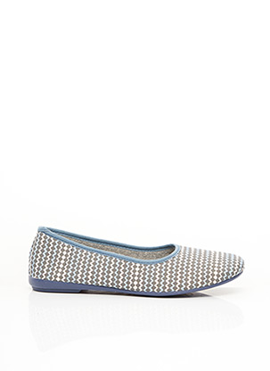 Chaussons/Pantoufles bleu TEMPO pour femme