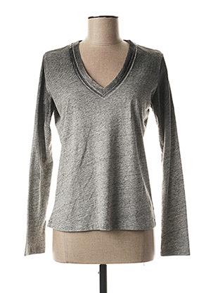 T-shirt manches longues gris EVA KAYAN pour femme