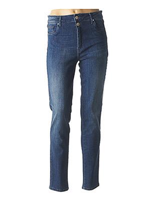 Jeans coupe slim bleu PAUL BRIAL pour femme