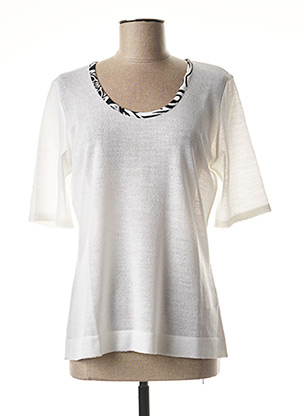 Pull col rond blanc CHASSAGNARD pour femme