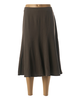 Jupe mi-longue marron GRIFFON pour femme