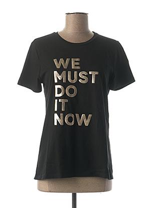 T-shirt manches courtes noir IMPERIAL pour femme