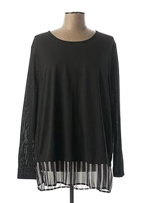 Pull tunique noir CISO pour femme