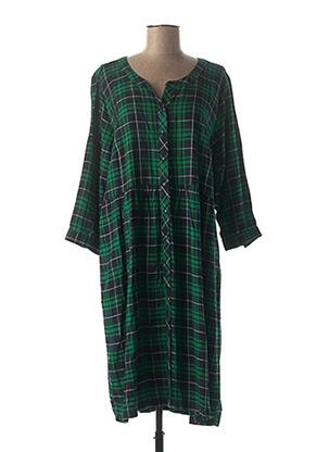 Robe mi-longue vert CISO pour femme