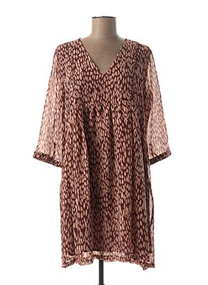 Robe mi-longue violet GRACE & MILA pour femme