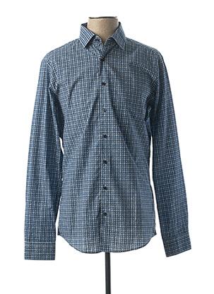 Chemise manches longues bleu ROY ROBSON pour homme