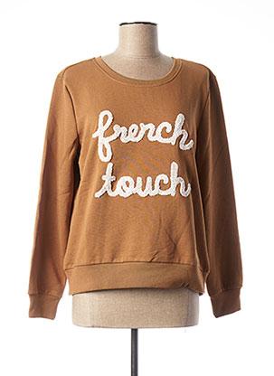 Sweat-shirt marron ONLY pour femme