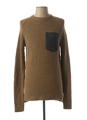 Pull col rond marron ONLY&SONS pour homme