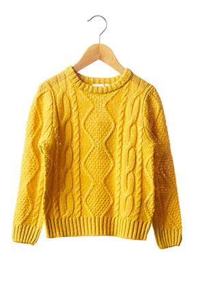 Pull col rond jaune NAME IT pour fille