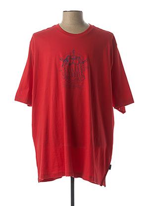 T-shirt manches courtes rouge HAJO pour homme