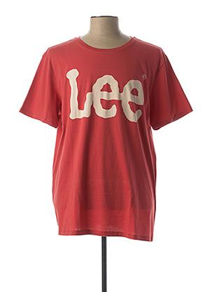 T-shirt manches courtes rouge LEE pour homme